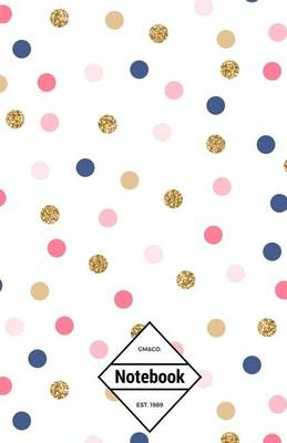 Picture of GM&Co  : Notebook Journal Dot-Grid, Lined, Graph, 120 Pages 5.5x8.5 (Bright Confetti White Dots)