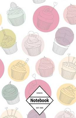 Picture of GM&Co  : Notebook Journal Dot-Grid, Lined, Graph, 120 Pages 5.5x8.5 (Kawaii Cupcakes Sweet Dessert)
