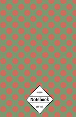 Picture of GM&Co  : Notebook Journal Dot-Grid, Lined, Graph, 120 Pages 5.5x8.5 (Christmas Theme Green Red Polka Dots)