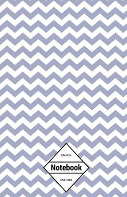 Picture of GM&Co  : Notebook Journal Dot-Grid, Lined, Graph, 120 Pages 5.5 x8.5  (Pastel Blue Chevron)