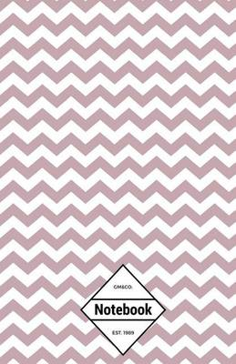 Picture of GM&Co  : Notebook Journal Dot-Grid, Lined, Graph, 120 Pages 5.5 x8.5  (Pink Chevron)