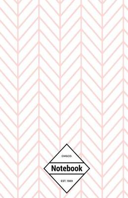Picture of GM&Co  : Notebook Journal Dot-Grid, Lined, Graph, 120 Pages 5.5 x8.5  (Pink Chevron White Plain Simple)