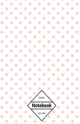 Picture of GM&Co  : Notebook Journal Dot-Grid, Lined, Graph, 120 Pages 5.5 x8.5  (Pastel Pink Polka Dot)
