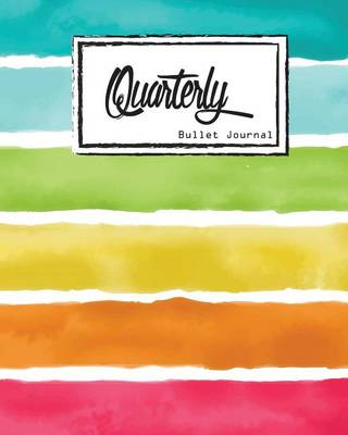 Picture of Bullet Journal: Dot Grid Line, Watercolor Colorful Rainbow Striped Size 8 X 10, 90 P: Inspiring Your Ideas and Tips for Hand Lettering Your Own Way to Beautiful Works and Life