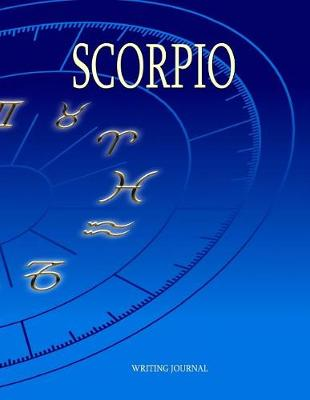 Picture of Scorpio: A Blank Journal with 100 Lined Pages 8.5  X 11