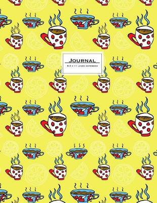 Picture of Journal - 8.5 X 11 Lined Notebook: Large, Ruled, 110 Pages, Yellow Teacups