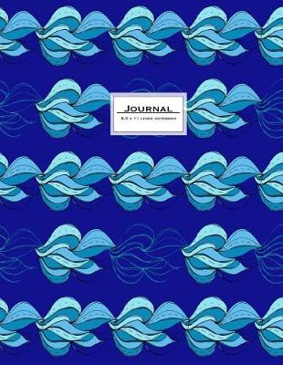 Picture of Journal - 8.5 X 11 Lined Notebook: Blue, Large, Ruled, 110 Pages