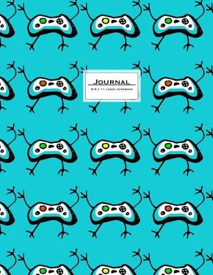 Picture of Journal - 8.5 X 11 Lined Notebook: Game Controller Cover, Large, Ruled, 110 Pages