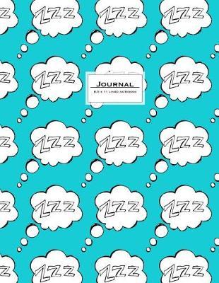 Picture of Journal - 8.5 X 11 Lined Notebook: Dream Journal, Kawai Zzz Speech Bubble, Cute