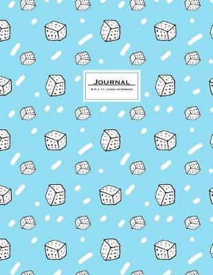 Picture of Journal - 8.5 X 11 Lined Notebook: Cute, Blue, Sugar Cover, Large, Ruled, 110 Pages