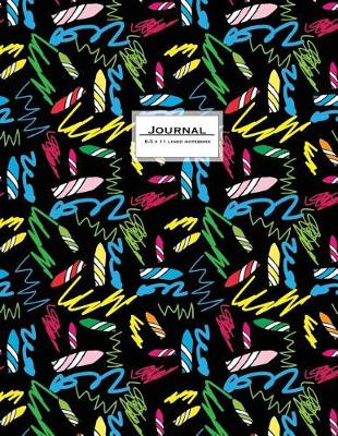 Picture of Journal - 8.5 X 11 Lined Notebook: Crayon Cover, Large, Ruled, 110 Pages