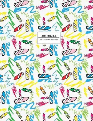 Picture of Journal - 8.5 X 11 Lined Notebook: Soft Cover, Crayons Design, Large, Ruled, 110 Pages
