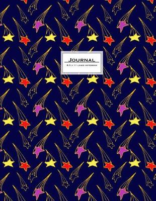 Picture of Journal - 8.5 X 11 Lined Notebook: Starry Night Cover, Large, Ruled, 110 Pages