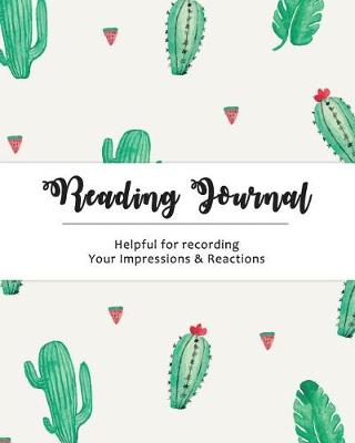 Picture of Reading Journal: For Book Lovers - Size (8x10 ) Cactus Design