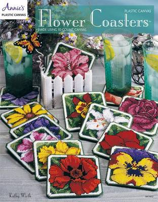 Picture of Plastic Canvas Flower Coasters