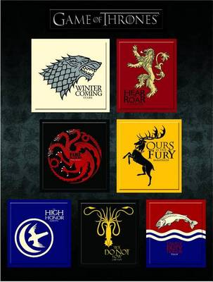 Picture of Game of Thrones House Sigil Magnet Set