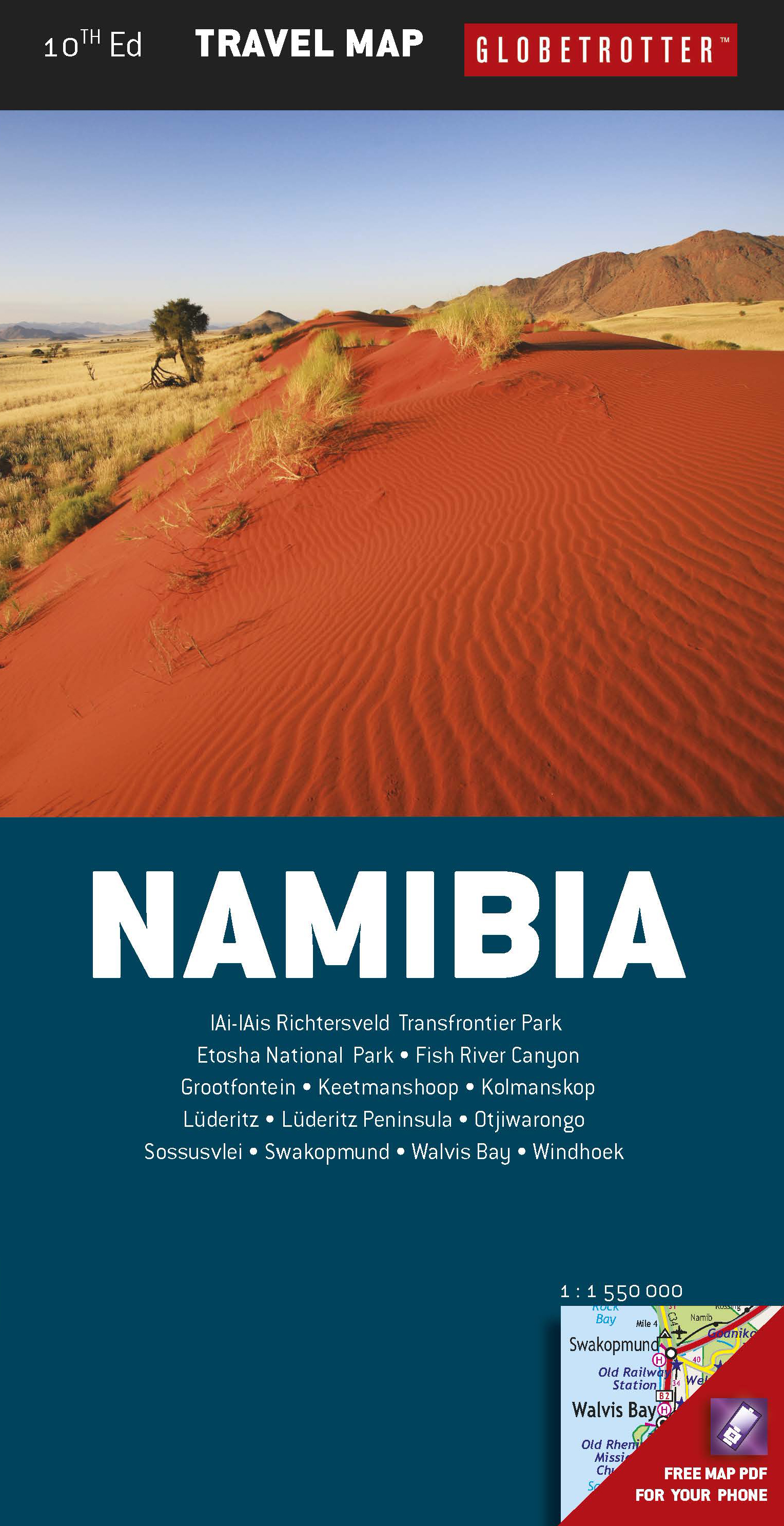 Picture of Globetrotter Map: Namibia