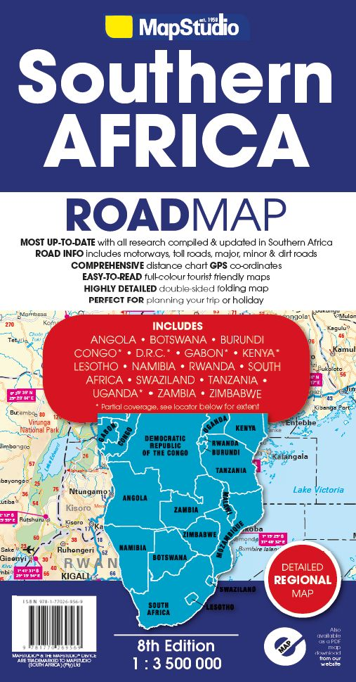 Picture of Southern Africa road map