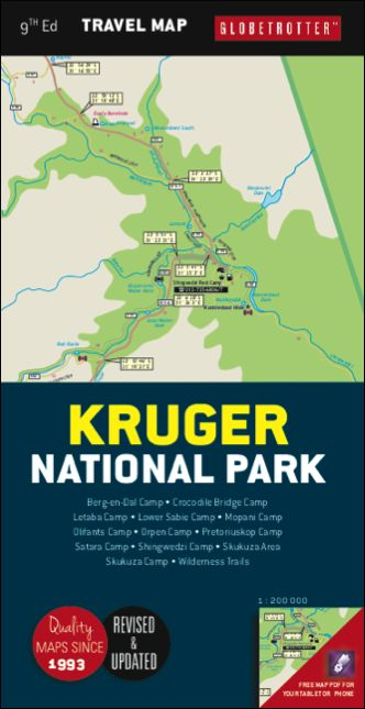 Picture of Globetrotter travel map Kruger National Park
