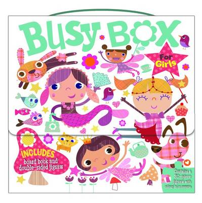 Picture of Busy Box for Girls- Book and Jigsaw Puzzle Set
