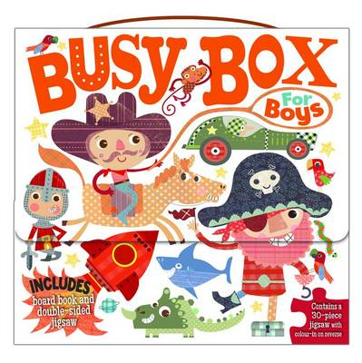 Picture of Busy Box for Boys- Book and Jigsaw Puzzle Set