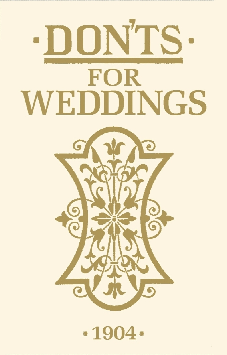 Picture of Don'ts for weddings