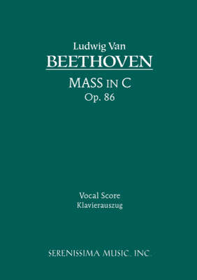 Picture of Mass in C, Op. 86 - Vocal Score