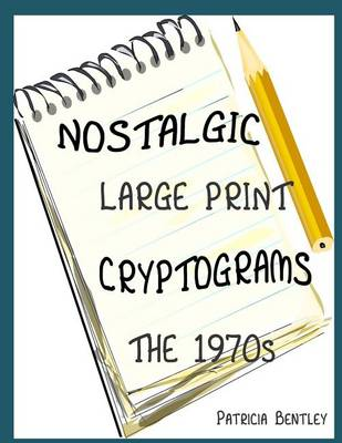 Picture of Nostalgic Large Print Cryptograms: The 1970s