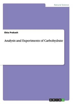 Picture of Analysis and Experiments of Carbohydrate
