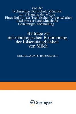 Picture of Beitrage Zur Mikrobiologischen Bestimmung Der Kasereitauglichkeit Von Milch