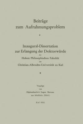 Picture of Beitrage Zum Aufrahmungsproblem