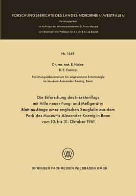 Picture of Die Erforschung Des Insektenflugs Mit Hilfe Neuer Fang- Und Messgerate: Blattlausfange Einer Englischen Saugfalle Aus Dem Park Des Museums Alexander Koenig in Bonn Vom 10. Bis 31. Oktober 1961