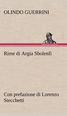 Picture of Rime Di Argia Sbolenfi Con Prefazione Di Lorenzo Stecchetti