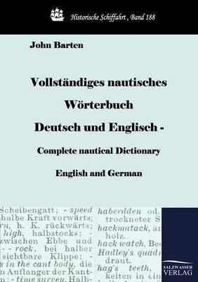 Picture of Vollst Ndiges Nautisches W Rterbuch Deutsch Und Englisch - Complete Nautical Dictionary English and German