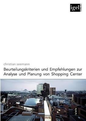Picture of Beurteilungskriterien Und Empfehlungen Zur Analyse Und Planung Von Shopping-Center