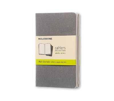 Picture of Moleskine Pebble Grey Plain Cahier Pocket Journal